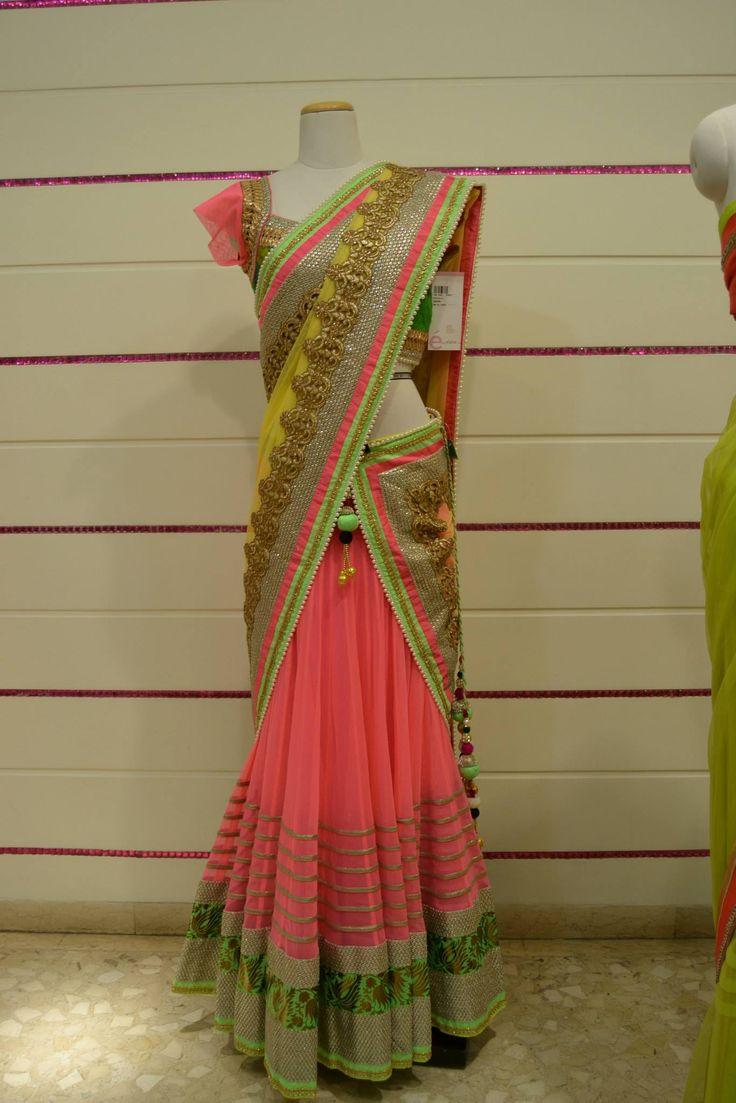 What a pretty half-saree