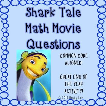 This is a 20 question worksheet that goes along with the movie shark