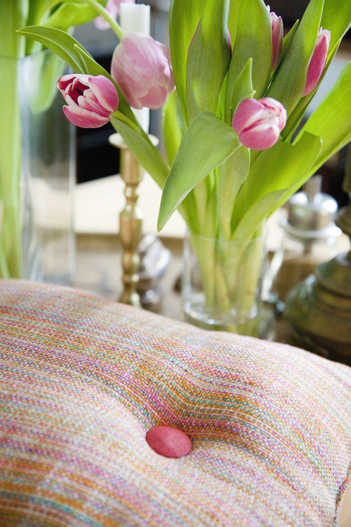 Tikau Rainbow raw silk pillow, Tikau shop summer season 2012.