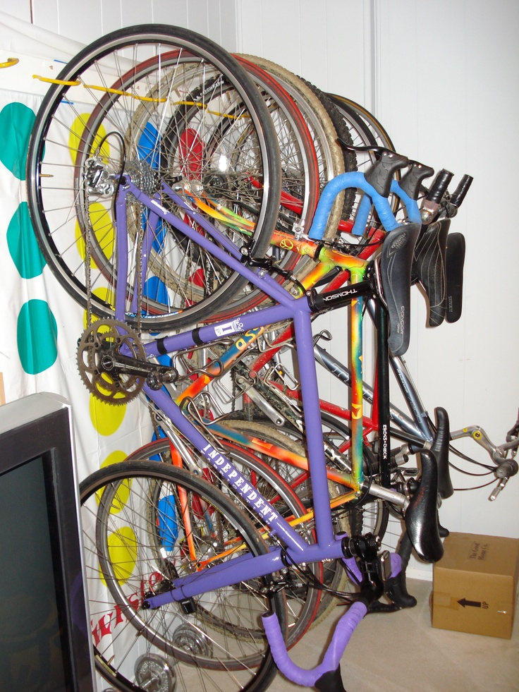Bikes Hanging In The Basement