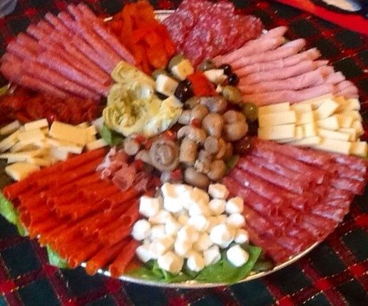 Traditional Italian Antipasto Platter |  It's an Italian tradition.                                                                                                                                                                                 More