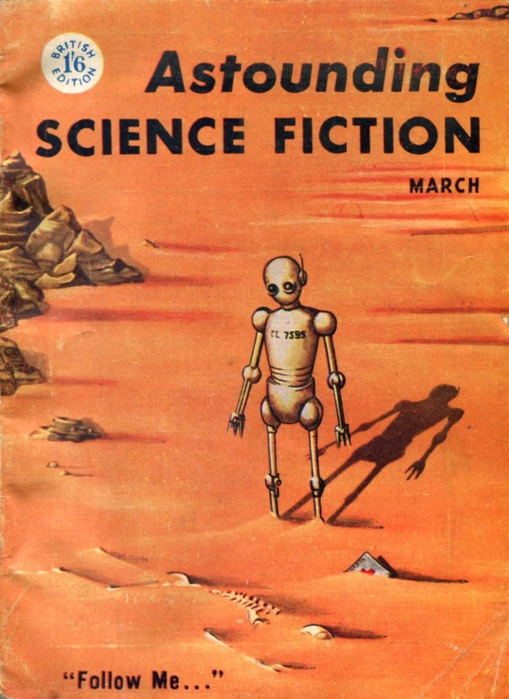 Wouldn't it be grand if Curiosity turned it's camera and saw this!  Astounding Science Fiction, 1956