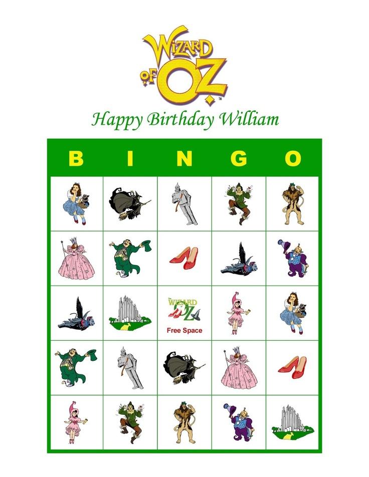 wizard of oz bingo