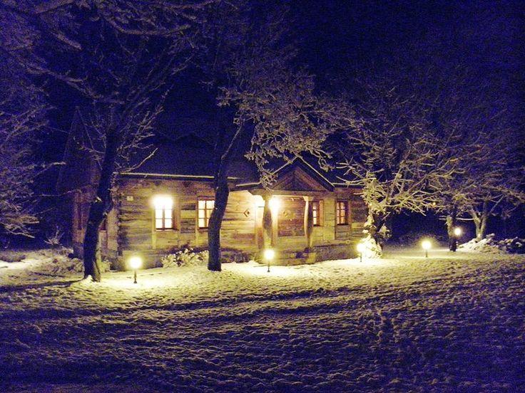 Zimowa noc w Dworze Podlaskim