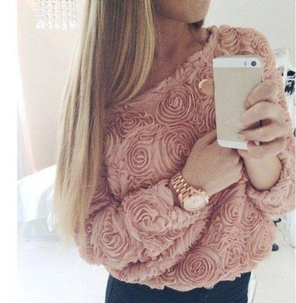 Новинка 3d кружева розы пуловер шифон блузка леди топы широкий блузки цветочные женщин свитер 10 купить на AliExpress