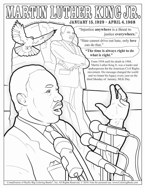 - Martin Luther King Coloring Pages