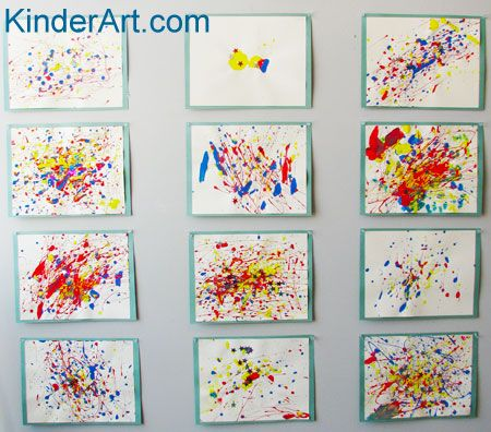 Our major art exploration this year? Jackson Pollock, very accessible for Kinder aged children. Hmmm ...