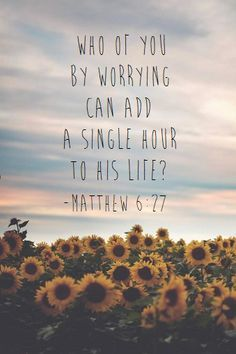 This verse calms me down when I am feeling anxious. When I feel in over my head I need to remember to turn my focus back to God's word.
