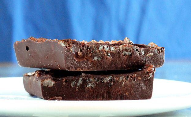 """Σπιτικές+σοκολάτες+διαίτης+με+γλυκαντικό+""""onstevia""""+με+4+υλικά,+3+κινήσεις"""