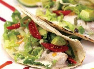 Baja Fish Tacos con salsa di ananas e zenzero