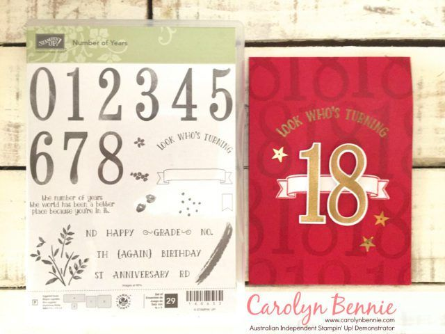 Number of years Carolyn Bennie - Independent Stampin' Up! Demonstrator