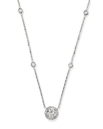 Joy Round Diamond Pendant Necklace by Messika at Neiman Marcus.