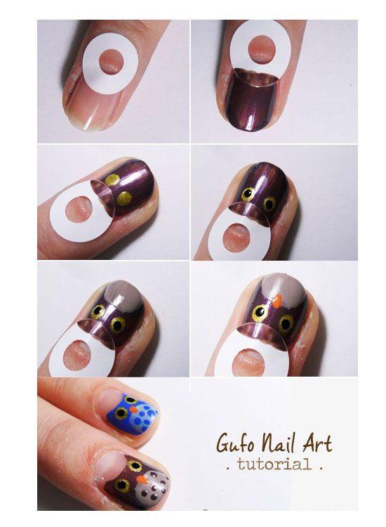 25 Best & Easy Nail Art Tutorials 2012 For Beginners & Learners | Girlshue