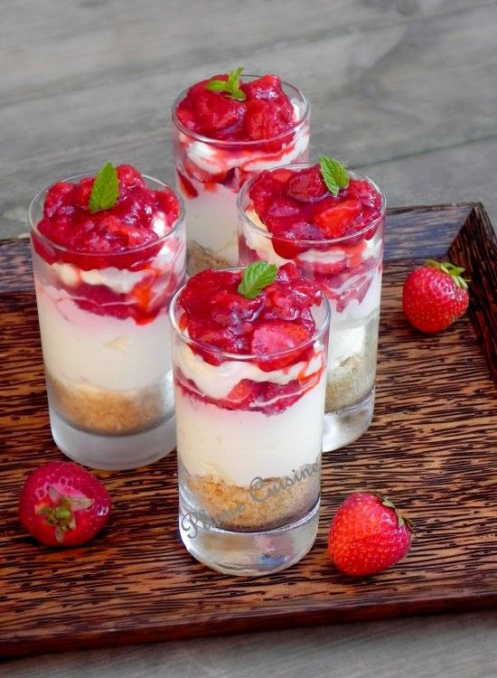 verrine chesecake fraises cru