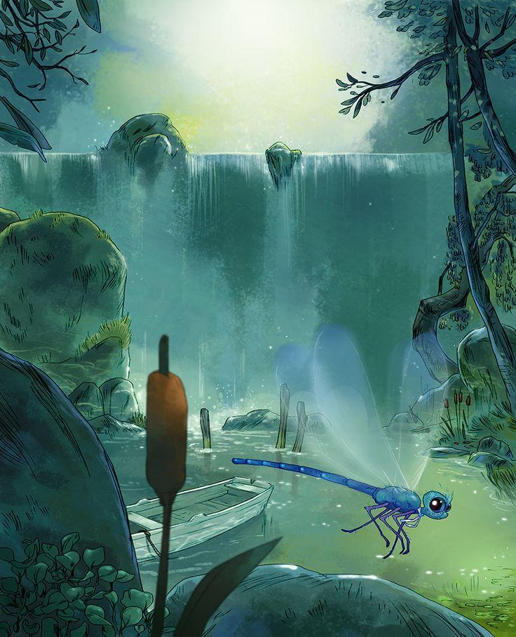 Aurélie Neyret illustration: Neyret Illustrations, Aureli Neyret, Animeart Fantasy, Amazing Art, Illustrations Inspiration, Backgrounds Design, Animal Reference, Aur Neyret, Auréli Neyret