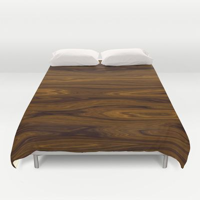 Wood Brown Duvet Cover by Fine2art - $99.00