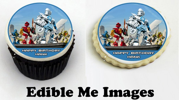 HERO FACTORY  Birthday Party Edible Cake Toppers Cupcakes Decoration Favor. $8.50, via Etsy.