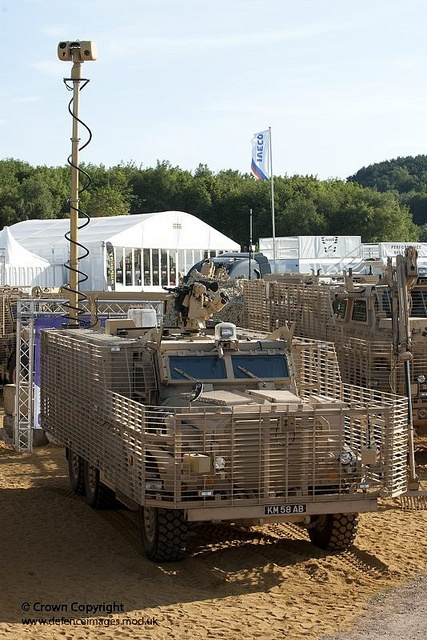 A specially adapted Mastiff 2 vehicle which comprises part of the newly announced Talisman suite of vehicles designed for operations in Afghanistan.
