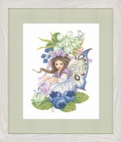 Fairy Counted Cross Stitch Kit - Blueberry Girl - Lanarte