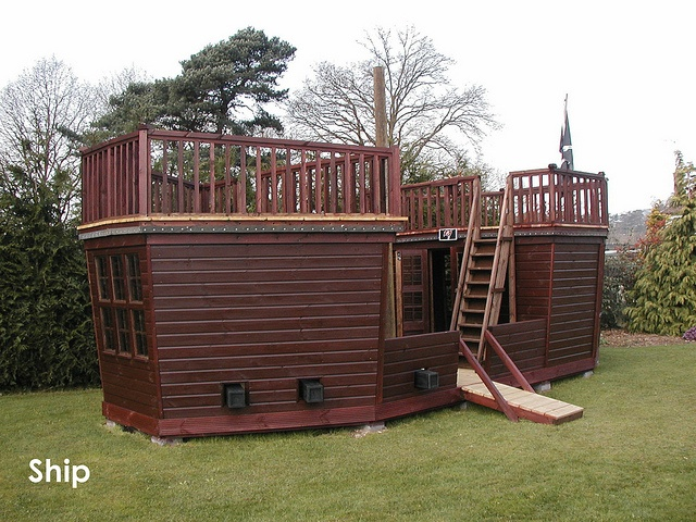 Plans for building a pirate ship playhouse woodworking for Boat playhouse plans