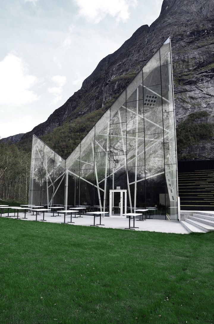 The new visitor center in Trollveggen, Norway by Reiulf Ramstad Architects | Posted by CJWHO.com