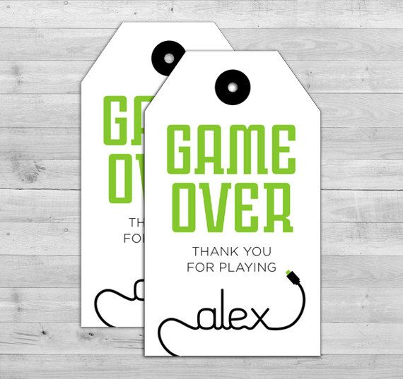 Video Game Party Favors  Game Truck Party Favors by WLAZdesignSHOP