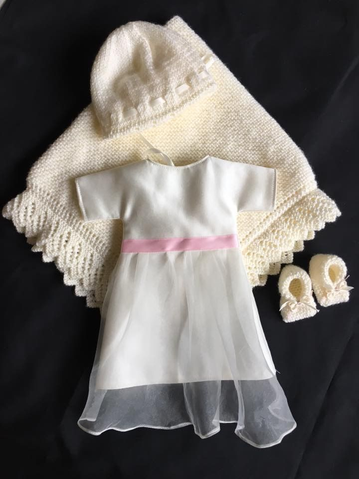 october 2017, a selection of items that make up our baby Bereavement Packs, made by our wonderful volunteers to ensure every UK Angel Baby has the chance to be dressed in a gorgeous Angel gown, with accompanying blanket, nappy, hat and bootees. All gowns made from a UK donated wedding dress.
