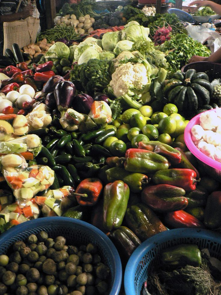 Lots of Vegetables in the market - San Pedro la Laguna, Solola, Guatemala