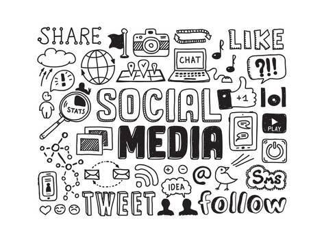 Social Media Doodles ElementsBy bloomua