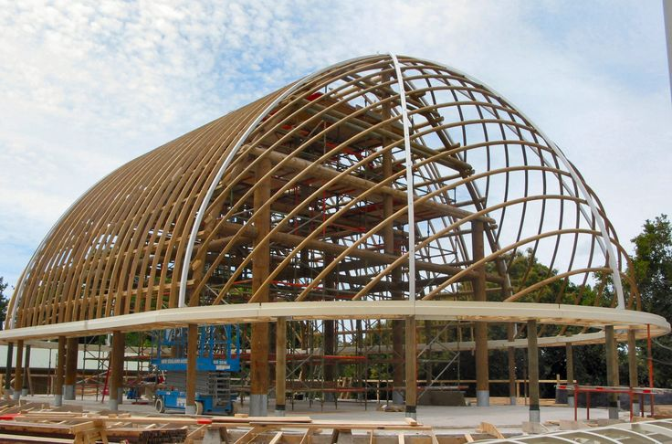 Fale Structure, Double Curved and Turned Glulam components