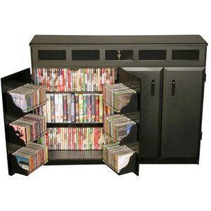 Venture Horizon Top Load Media Cabinet, Double Wide Media Storage, Locking Media Storage, DVD Media Storage Cabinet