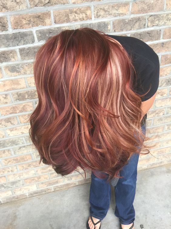 All the fall hair colors!! Red, blonde, red violet, copper fall hair.: