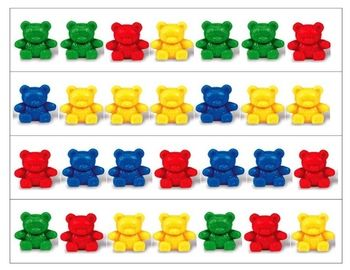 Teddy Bear Patterning Strips