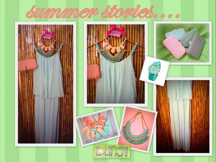 Begin your summer story with this flowy romantic and very stylish look!!Don't miss it!Geti it now! #fairy #tale #aqua #blue #dress #long #necklaces #clutch #stripes #summer #romantic #look #fashion #style #blingbyMV #geneva #watch #blings #girly #juicy #colors https://www.facebook.com/BlingbyMV/photos/a.632776196813040.1073741835.625193900904603/653341854756474/?type=1&theater
