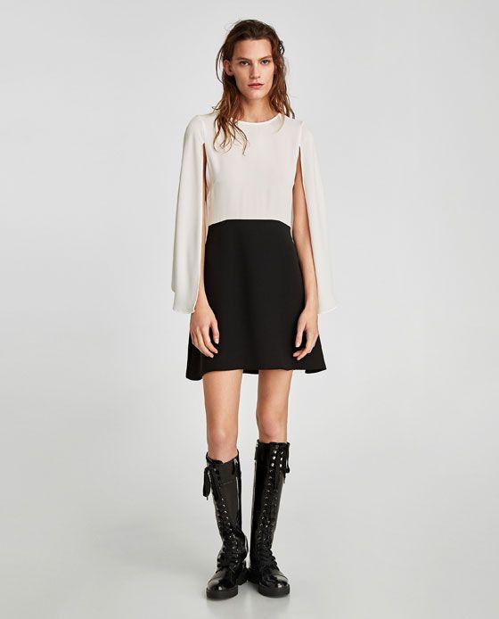 ZARA - WOMAN - COMBINED CAPE DRESS