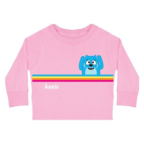 Toodee Rainbow Long Sleeve Tee - Toddler - Clothing