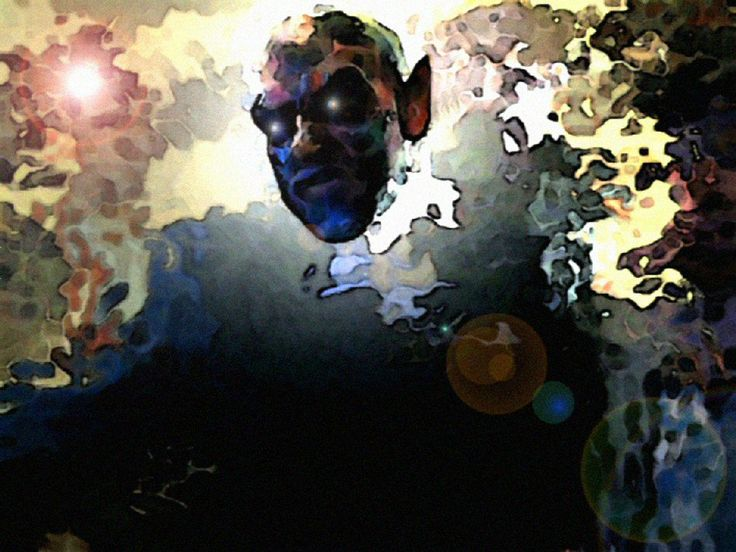 Digital Experimental Piece | Self Portrait with Face Paint and Computer Manipulation | 2005