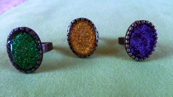Vintage Chevalier rings small antique gold by ArtisticBreaths