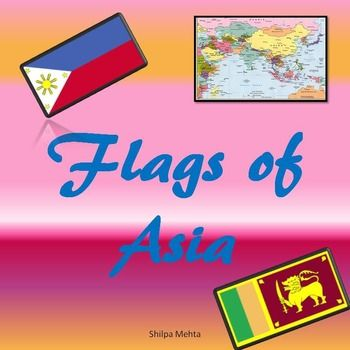 Be world-wise!This is the second part of the seriesCountries of the World: Flags and Capitals.A lot of students today, whatever their age, do not know about the different countries of the world. This product introduces them to the 49 countries of Asia.