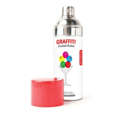 Graffiti cocktail shakerSprays Painting, Gift, Kikkerland Graffiti, Kikkerlandgraff Cocktails, Painting Cocktails, Graffiti Cocktails, Products, Cocktail Shaker, Cocktails Shakers