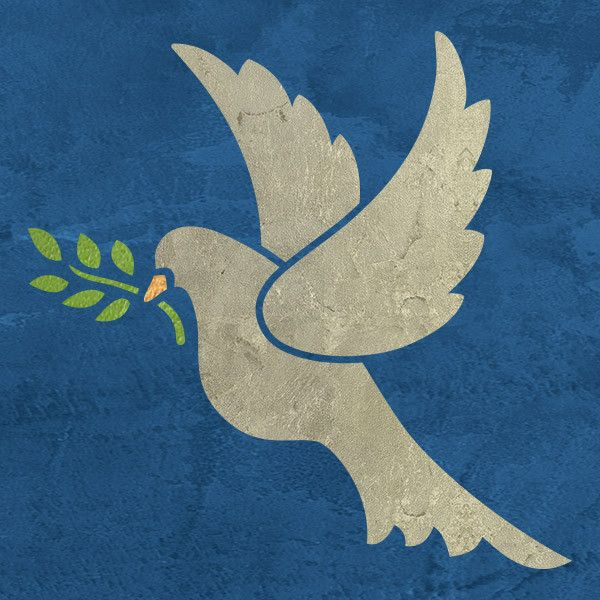 Christmas Peace Dove Craft Stencil