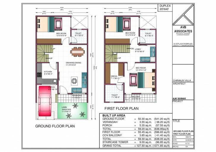 Gorgeous Inspiration 4 Duplex House Plans 1000 Sq Ft 3 Bedroom Design India On Home Jpg 728 514 20x40 House Plans 2bhk House Plan 30x40 House Plans