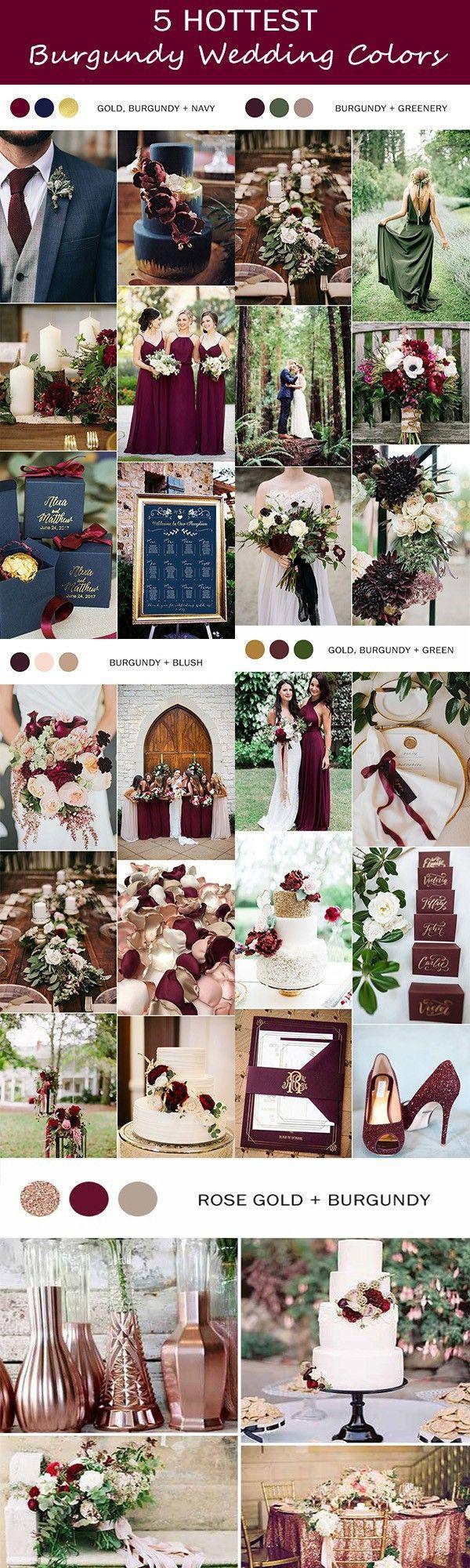 5 trending burgundy wedding color ideas