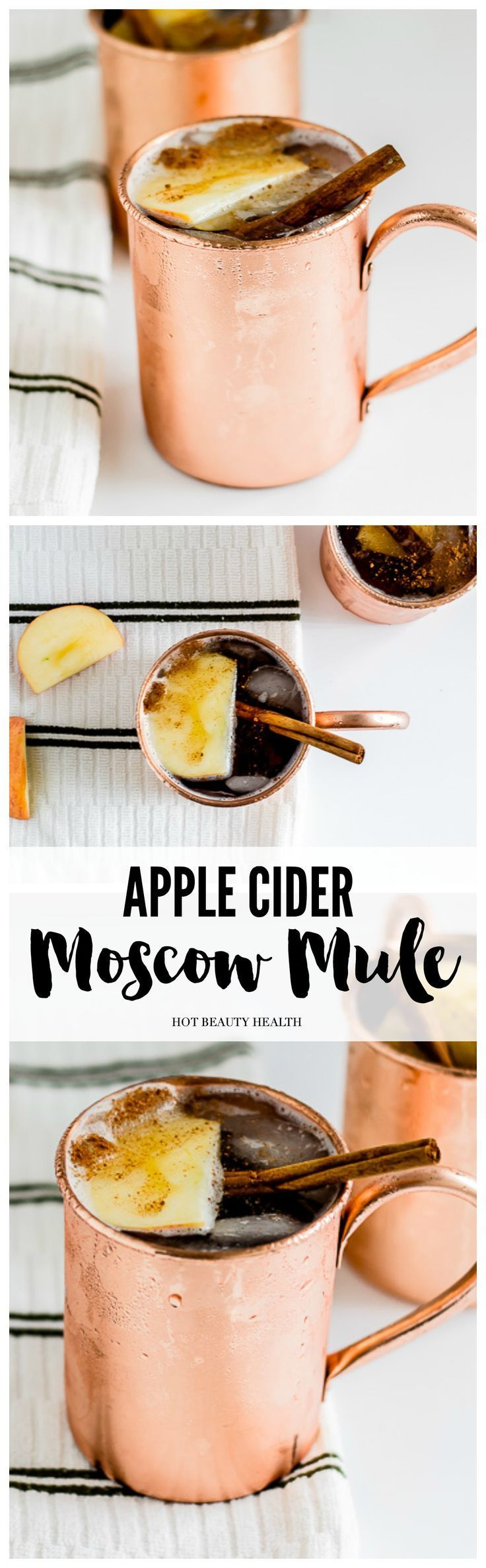 The addition of apple cider pairs perfectly with the ginger beer while the cinnamon adds a lovely fall aroma and flavor to the drink. Also, the perfect holiday drink to sip during Thanksgiving, Christmas, and New Year's Eve. (Click here for the moscow mul
