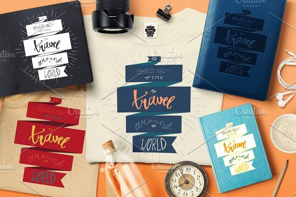 The Best Time To Travel by barsrsind on @creativemarket