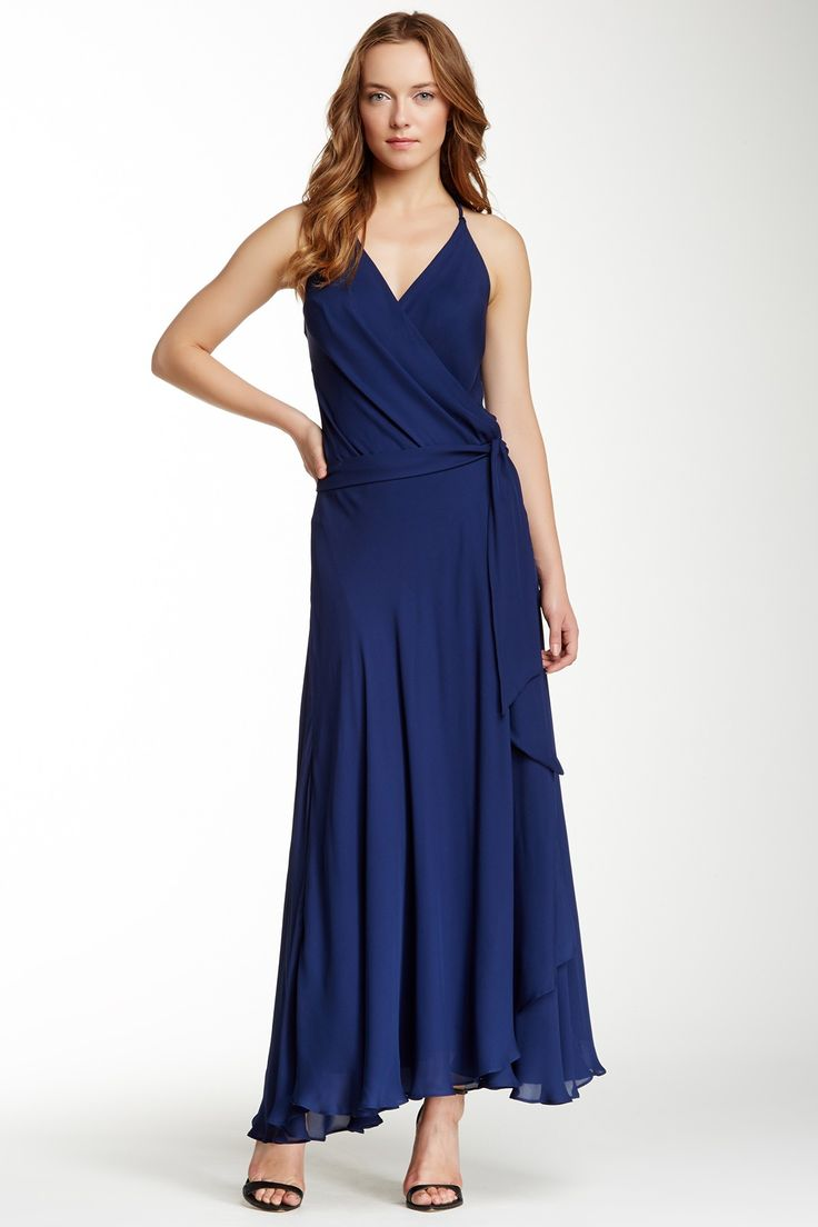 Haute Hippie Halter Wrap Silk Gown by Haute Hippie on @nordstrom_rack