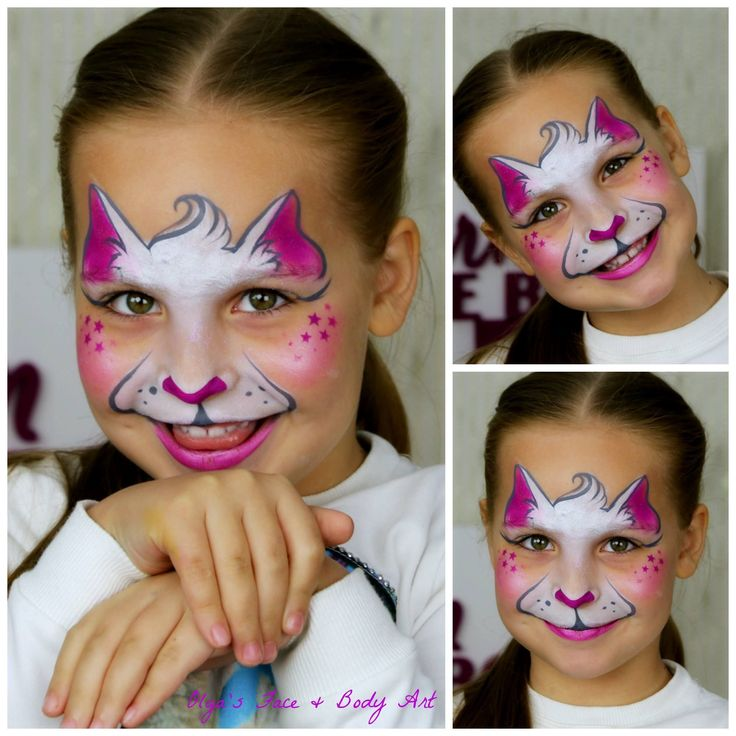 Simple & Fast Kitty Cat face painting design Perfect for small kids and a great way to learn how to face paint for a beginner. Full tutorial available on my YouTube channel. #facepainttutorial #howtofacepaint