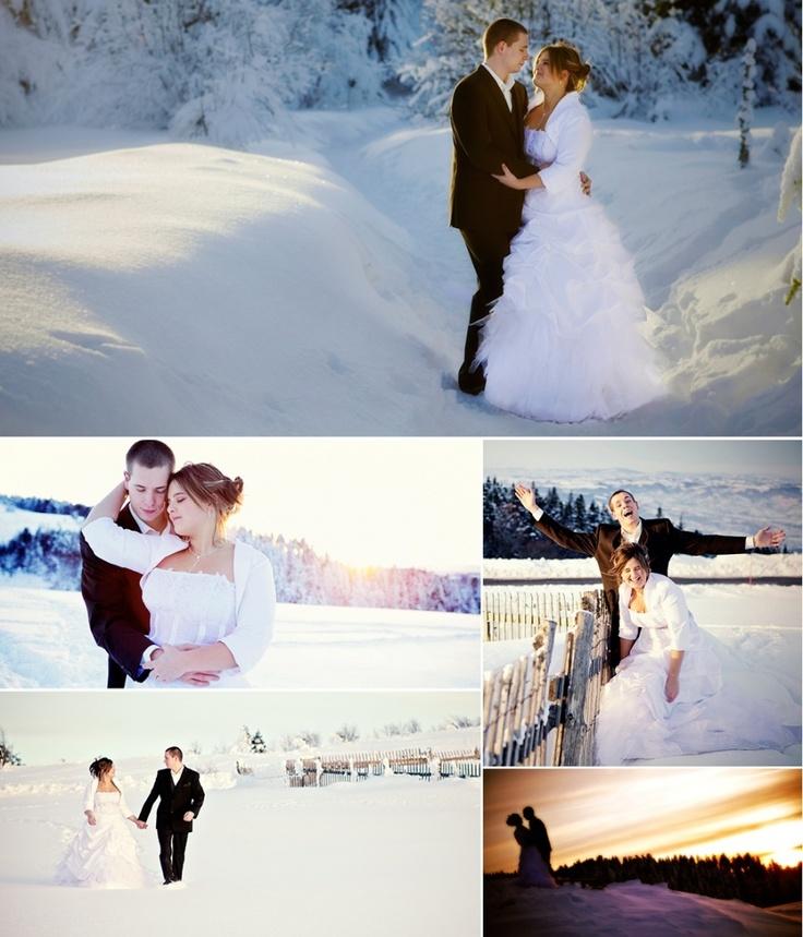 Photos de mariés dans la neige, mariage dhiver | Wedding & Portrait Photographer Lyon France | Burgundy, Morocco, Noumea | Tel: +33 (0)9 51 82 92 05