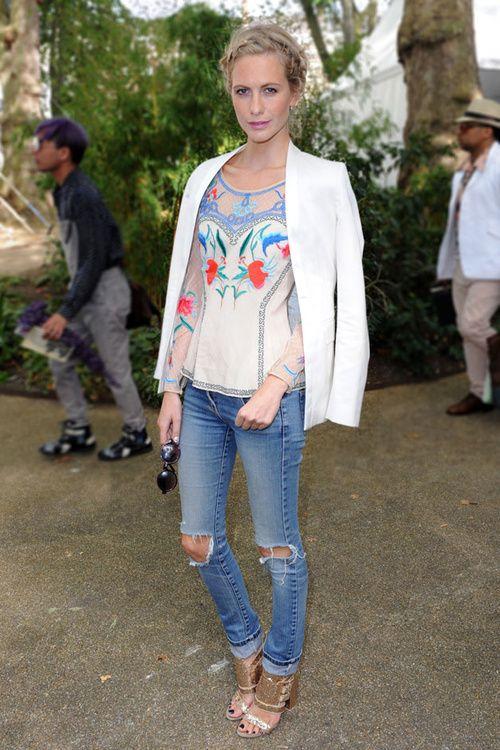Poppy Delevigne at London Fashion Week