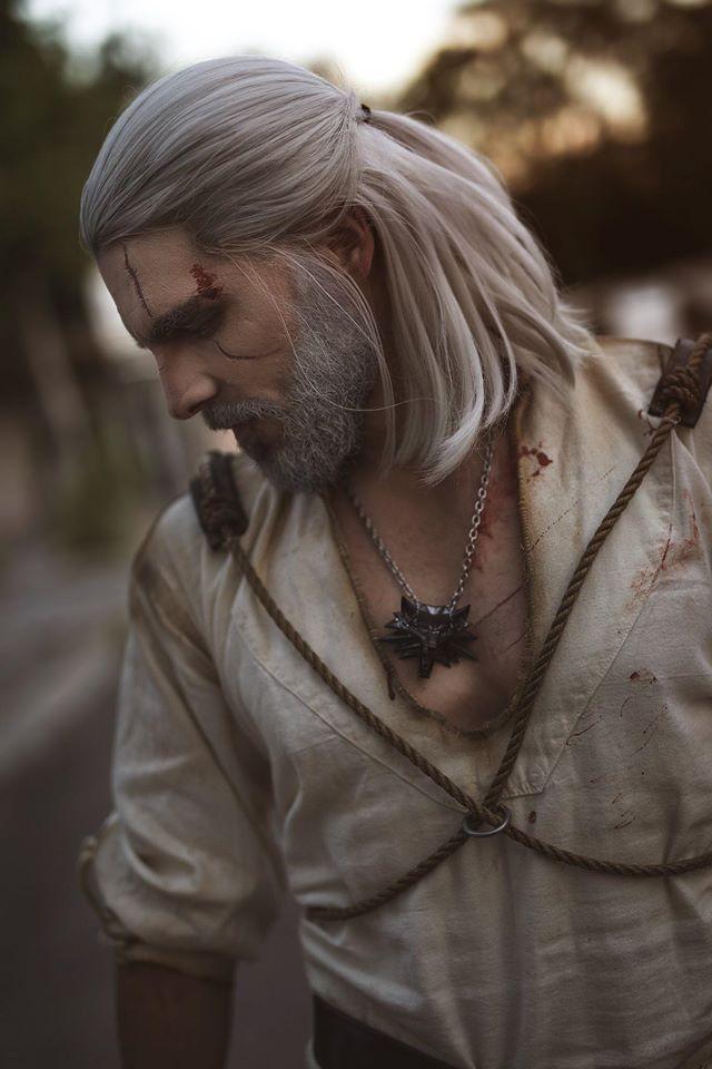 Maul Cosplay Geralt The Witcher 3 Wild Hunt Wiedźmin 3 Dziki Gon
